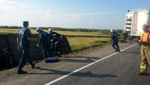 Столкновение автобусов на 125 километре трассы Хабаровск — Комсомольск-на-Амуре в районе озера Гасси