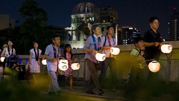 Церемония памяти жертв атомной бомбардировки в Хиросиме