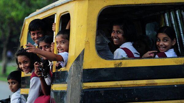 Индийские школьники в Аллахабаде