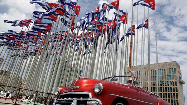 Здание посольства США в Гаване, Куба. Архивное фото