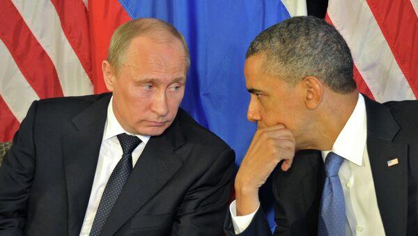 Президент России Владимир Путин и президент США Барак Обама, архивное фото