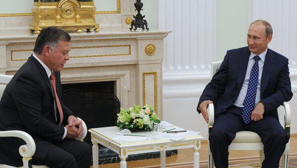 Президент РФ В.Путин встретился с королём Иордании Абдаллой II. Архивное фото