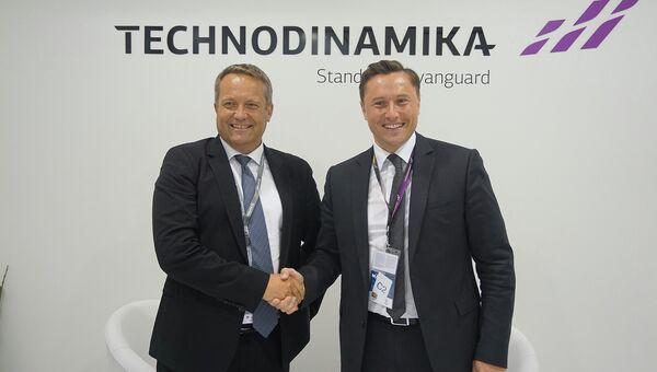 Генеральный директор холдинга Технодинамика Максим Кузюк и генеральный директор французской компании Microturbo Пьер-Ив Морван
