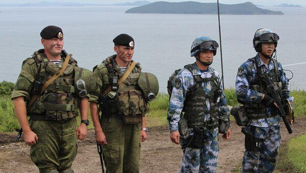 Российско-китайские учения Морское взаимодействие-2015 во Владивостоке