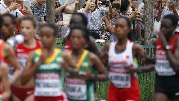 Женский марафон чемпионата мира по легкой атлетике в Пекине