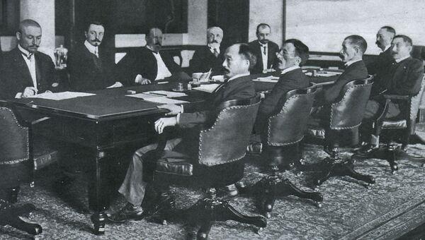 Переговоры в Портсмуте перед подписанием мирного договора