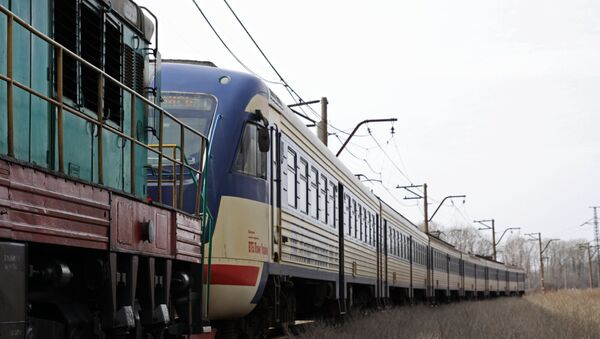 Первый пассажирский электропоезд отправился со станции Ясиноватая. Архивное фото