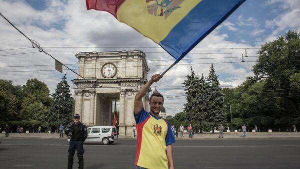 Акции протеста в Кишиневе. Архивное фото