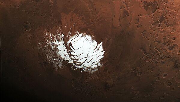 Фотография южного полюса Марса, сделанная зондом Mars Express
