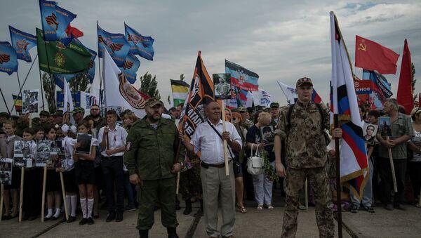 Мероприятия на Саур-Могиле в ознаменование 72-й годовщины освобождения Донбасса от немецко-фашистских захватчиков