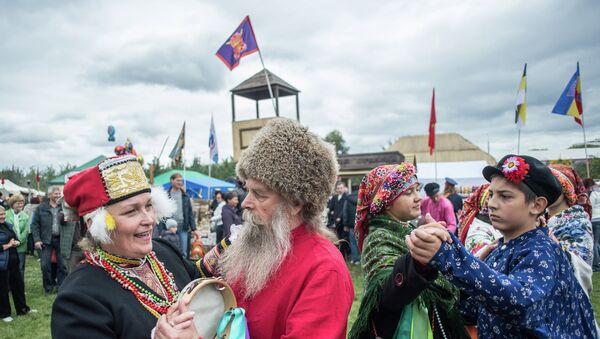 Участники международного фестиваля Казачья станица Москва. Архивное фото
