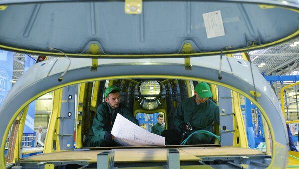 Сборочный цех вертолетного завода. Архивное фото