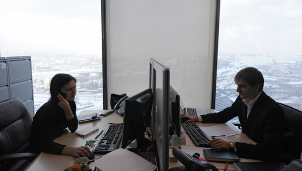 Работа офисов. Архивное фото