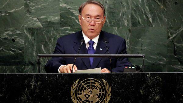 Выступление Нурсултана Назарбаева в ООН. Архивное фото.