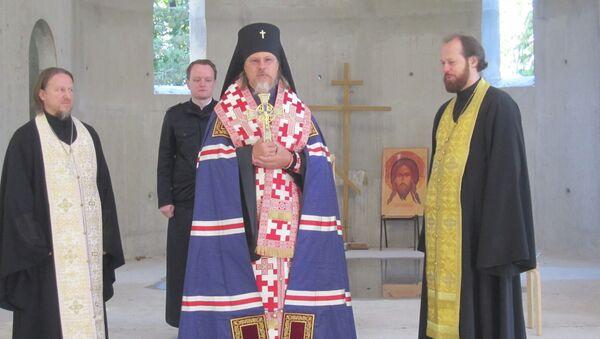 Архиепископ Егорьевский Марк в строящемся храме РПЦ в Страсбурге