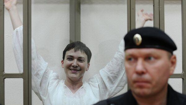 Украинская летчица Надежда Савченко на очередном заседании Донецкого городского суда Ростовской области