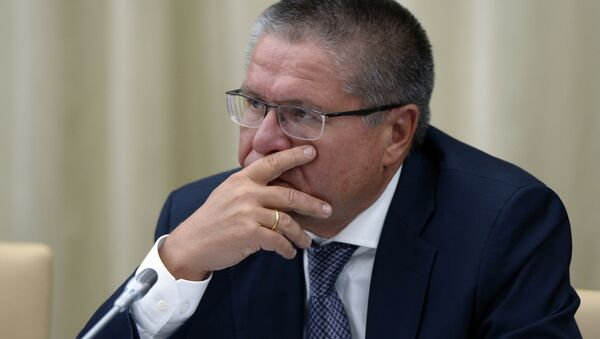 Министр экономического развития РФ Алексей Улюкаев перед началом совещания президента РФ с членами правительства РФ в резиденции Ново-Огарево
