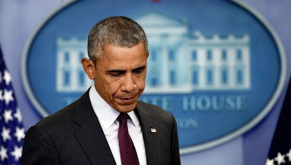 Президент США Барак Обама делает заявление по поводу стрельбы в колледже в Орегоне. Архивное фото