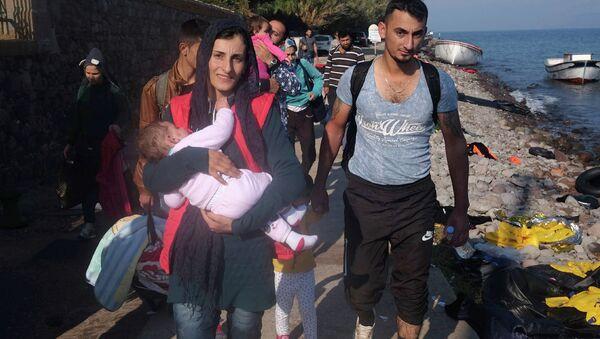 Беженцы в Греции. Архивное фото