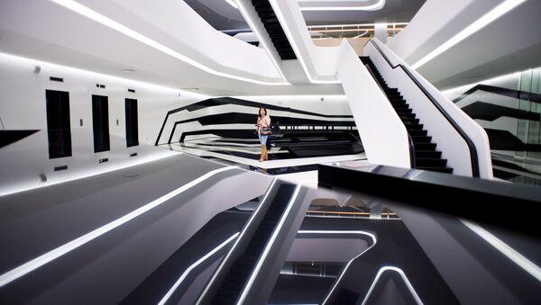 Бизнес-центр Dominion Tower британского архитектора Захи Хадид в Москве. Архивное фото