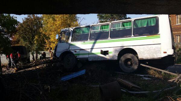 Ликвидация последствий ДТП с участием автобуса с детьми под Хабаровском.