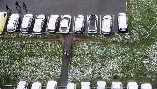 Заснеженные автомобили