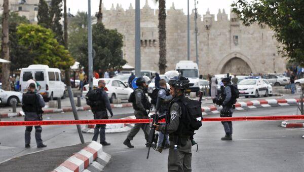 Израильская полиция в Старом городе в Иерусалиме, 10 октября 2015