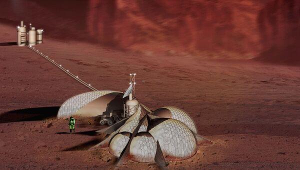 Проект дома на Марсе от команды Mars Terrain Intelligence Collaborative