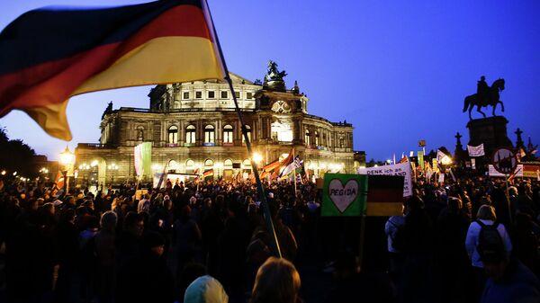 Антиисламский митинг в Дрездене