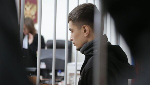 Подозреваемый в подготовке теракта в Москве Аслан Байсултанов в Лефортовском суде города Москвы