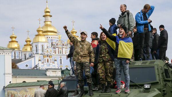 Участники Марша героев в Киеве