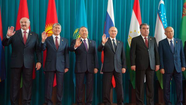 Заседание Совета глав государств-участников СНГ