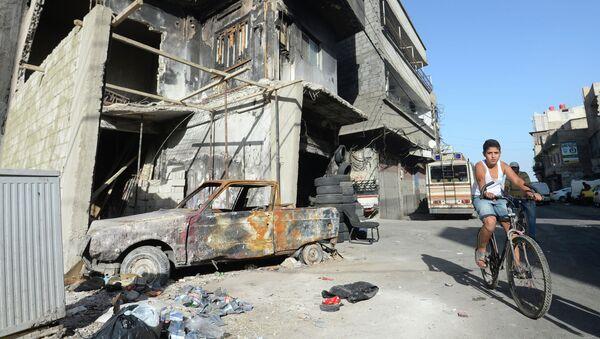 Местный житель в районе Аббас в Дамаске
