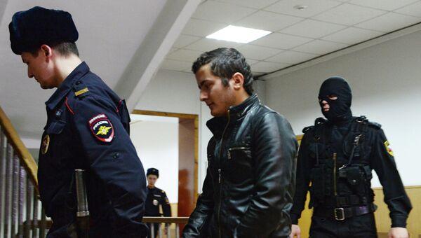 Один из подозреваемых в причастности к запрещенной в Российской Федерации террористической организации Хизб ут-Тахрир аль-Ислами в Мещанском суде Москвы. Архивное фото