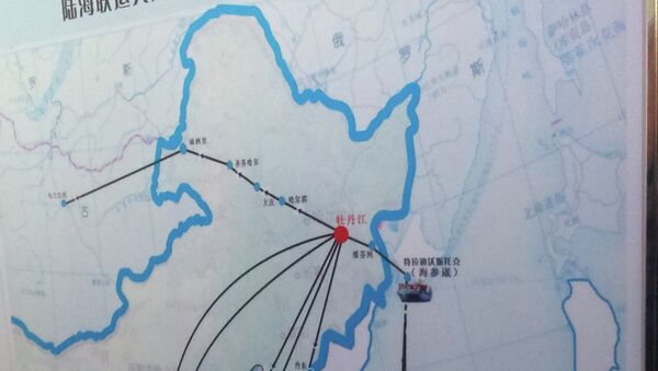 Схема перевозки грузов из Китая в Россию. Архивное фото
