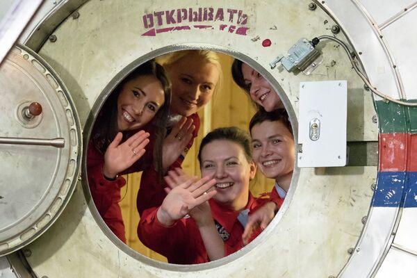 Участницы эксперимента по имитации облета Луны женским экипажем Луна-2015