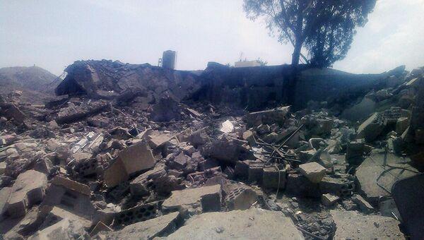 Последствия авиаудара по госпиталю в провинции Саада, Йемен