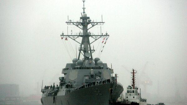Ракетный эсминец ВМС США. 2008 год