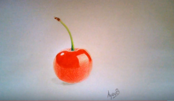 Вишня: уроки рисования