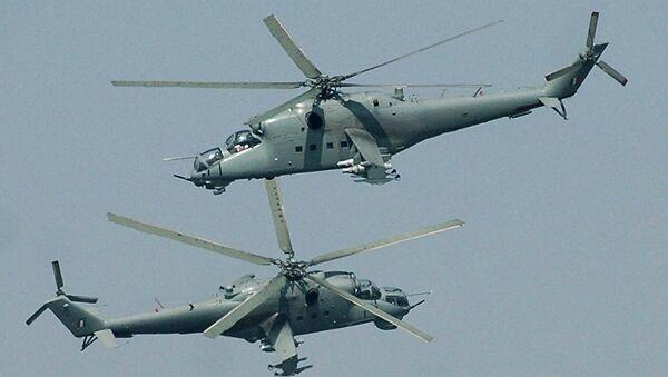 Вертолеты Ми-25 ВВС Индии. Архивное фото
