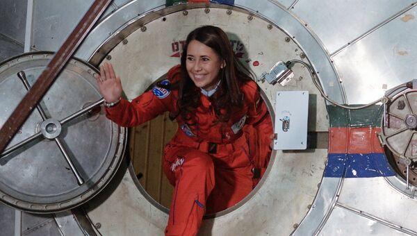 Участница восьмисуточного эксперимента по имитации облета Луны женским экипажем Луна-2015 Татьяна Шигуева после его завершения
