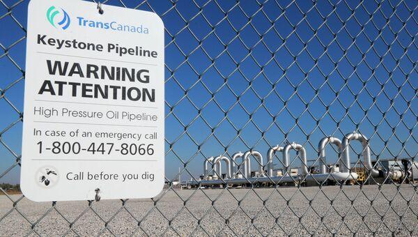 Насосная станция нефтепровода Keystone в Небраске. Архивное фото