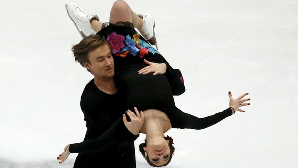 Елена Ильиных и Руслан Жиганшин на Гран-при по фигурному катанию в Пекине