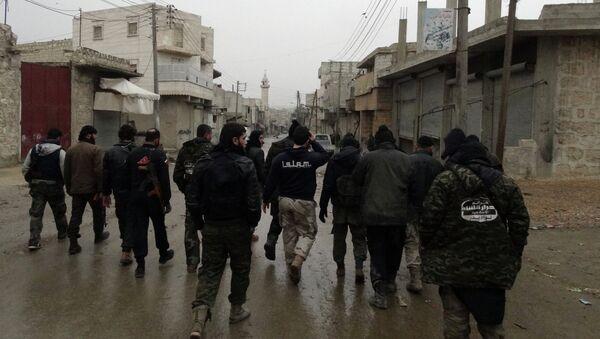 Боевики Ахрар аш-Шам в Алеппо. Архивное фото