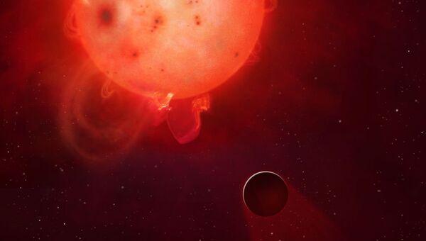 Так художник представил себе экзопланету Kepler-438b