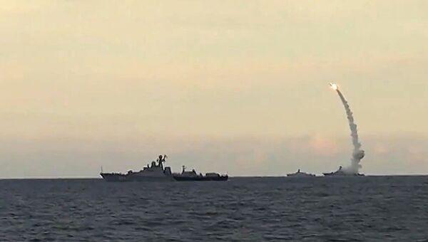 Из акватории Каспийского моря ракетными кораблями Каспийской флотилии РФ нанесен массированный удар 18-ю крылатыми ракетами комплекса Калибр-НК по 7-ми целям позиций террористов в сирийских провинциях Ракка, Идлиб и Алеппо. 20 ноября 2015