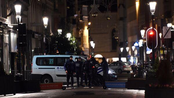 Бельгийская полиция установила периметр безопасности в Брюсселе