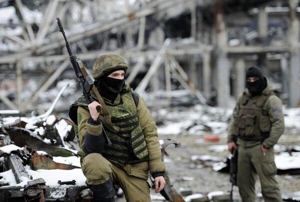 Ополченцы ДНР на территории Донецкого аэропорта