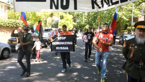 Перестаньте демонизировать Россию – митинг у консульства Турции в Сиднее