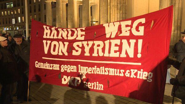 Руки прочь от Сирии – митинг против военного участия Германии в конфликте